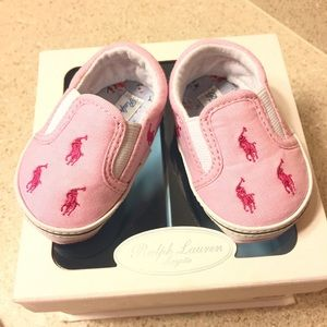 Ralph Lauren Baby girl pink shoes